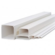 White PVC Cable Trunking (2M/PC)